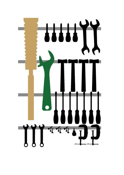 工具の整理にはikeaのマグネットナイフラックが超便利