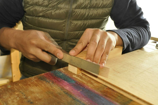 木工やすりの使い方