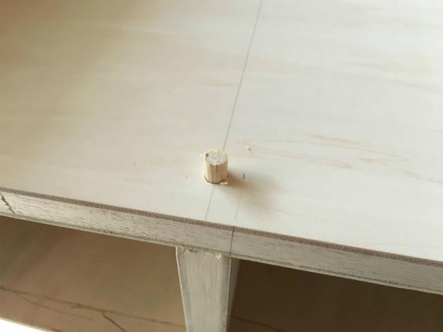 丸い棒(ダボ)でネジ穴を隠す方法