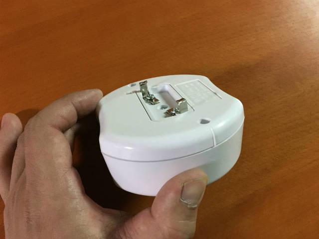 オーム電機 07-8250 照明リモコンスイッチ OCR−04W 078250の裏側