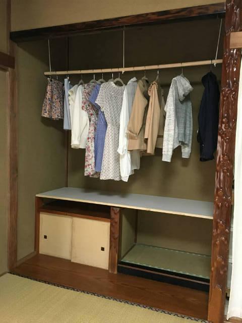 床の間を洋服収納に改造|172cm x 63cmの棚板をDIYで作成しました