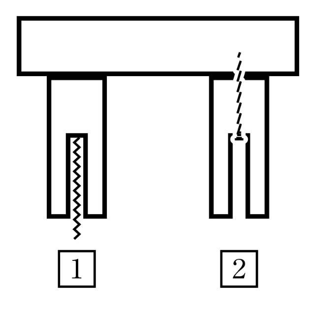 材料にドリルで穴を彫り裏からネジを打ち込む