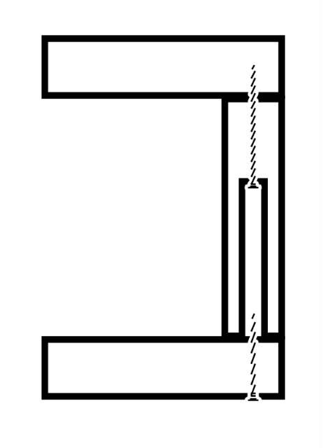 板の断面にドリルで穴を彫ってから裏からネジを打ち込む方法